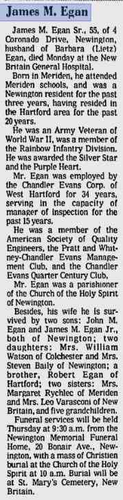 James M EGAN - The Morning Record