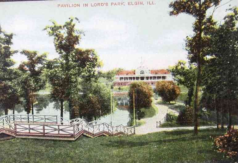 Elgin, Illinois, USA - Pavilion in Lord's Park, Elgin, Ill.