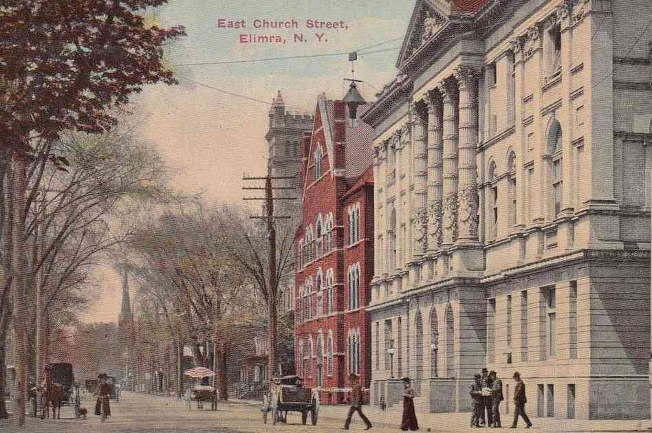 Elmira, New York, USA - East Church Street