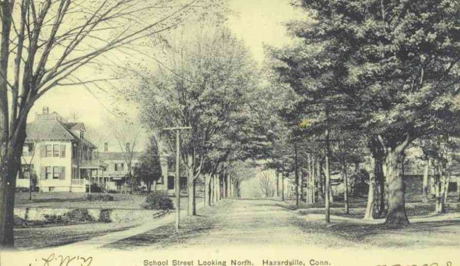 Enfield, Connecticut, USA (Thompsonville) - School Street looking North. Hazardville, Conn.