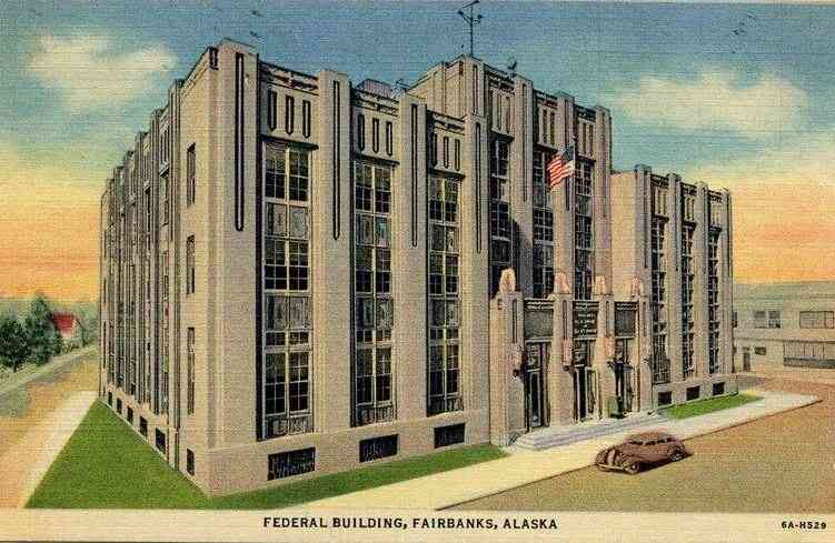 Fairbanks, Alaska, USA - Federal Building, Fairbanks, Alaska
