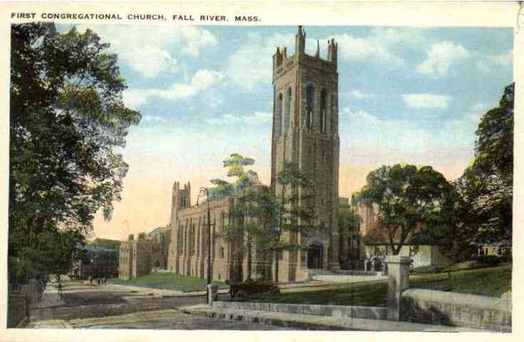 Fall River, Bristol, Massachusetts, USA - First Congregational Church, Fall River, Mass.