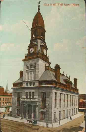 Fall River, Bristol, Massachusetts, USA - City Hall, Fall River, Mass.