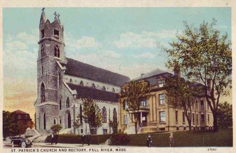 Fall River, Bristol, Massachusetts, USA - St. Patrick's Church and Rectory, Fall River, Mass.