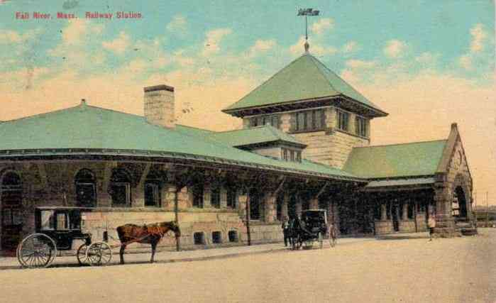 Fall River, Bristol, Massachusetts, USA - Fall RIver, Mass. Railway Station.