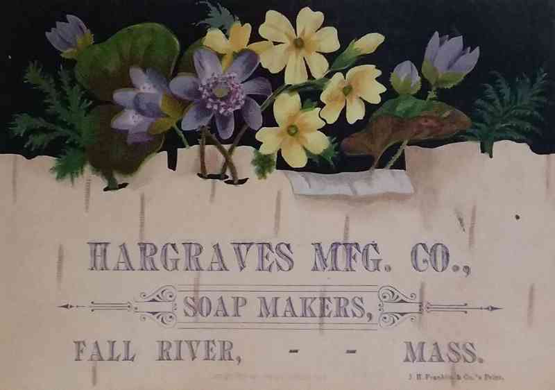 Fall River, Massachusetts, USA - Hargraves Mfg. Co., Soap Makers, Fall River, Mass.