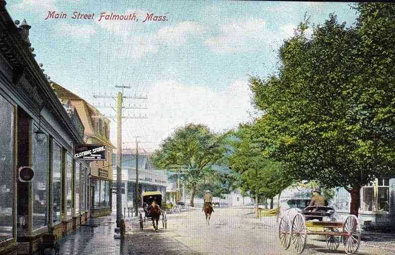 Falmouth, Massachusetts, USA  - Main Street (1906)