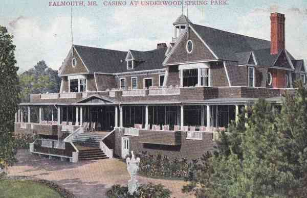 Falmouth, Maine, USA - Casino at Underwood Spring Park (1911)