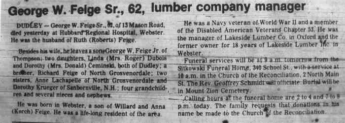 George William Feige - The News