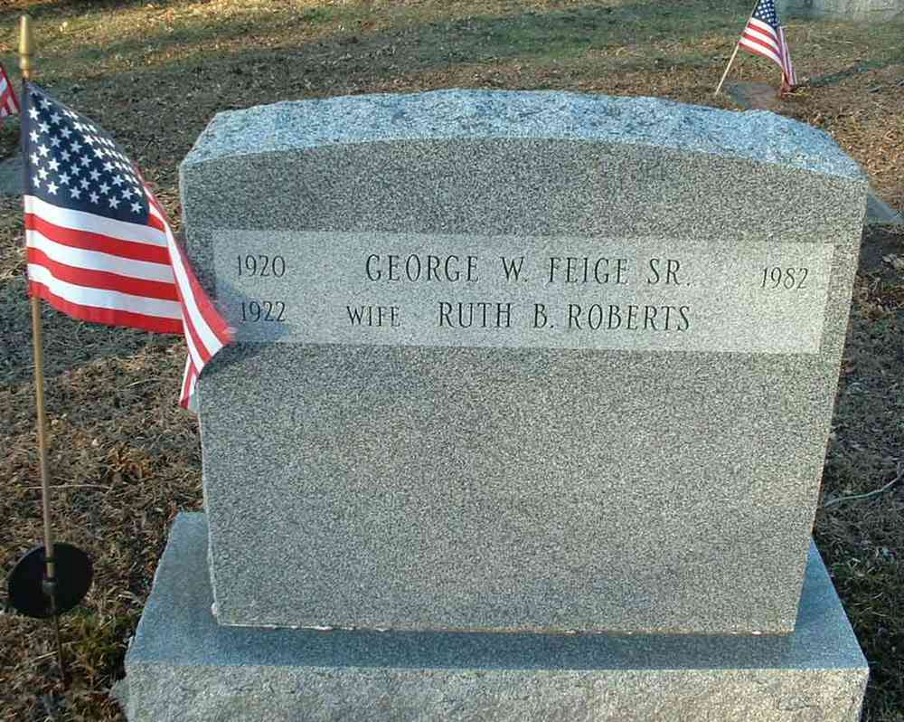 George William Feige - Mount Zion Cemetery, Webster, Massachusetts