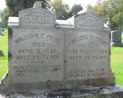 "The ""missing"" Prussians and Beer - Grave of William F. Feige and Augusta Thienert, Pittsfield Cemetery, Pittsfield, Massachusetts"