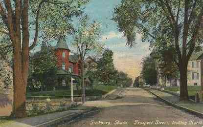 Fitchburg, Massachusetts, USA - Prospect Street looking North (1911)