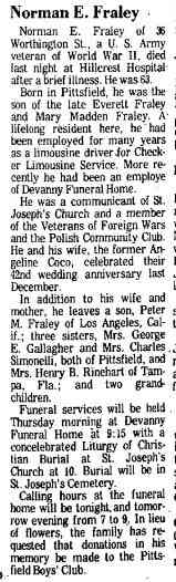 Norman Euclid Fraley - The Berkshire Eagle