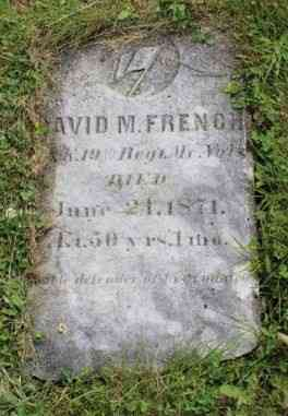 David M FRENCH - Grave