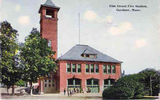 Gardner, Massachusetts, USA - Elm Street Fire Station, Gardner, Mass.