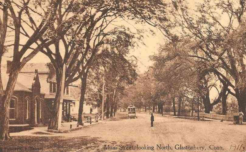 Glastonbury, Connecticut, USA - Main Street, looking North, Glastonbury, Conn. (1911)