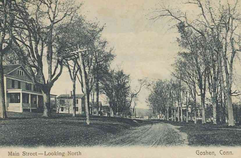 Goshen, Connecticut, USA - Main Street - Looking North (1910)
