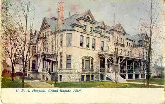 Grand Rapids, Michigan, USA - U. B. A. Hospital, Grand Rapids, Mich.