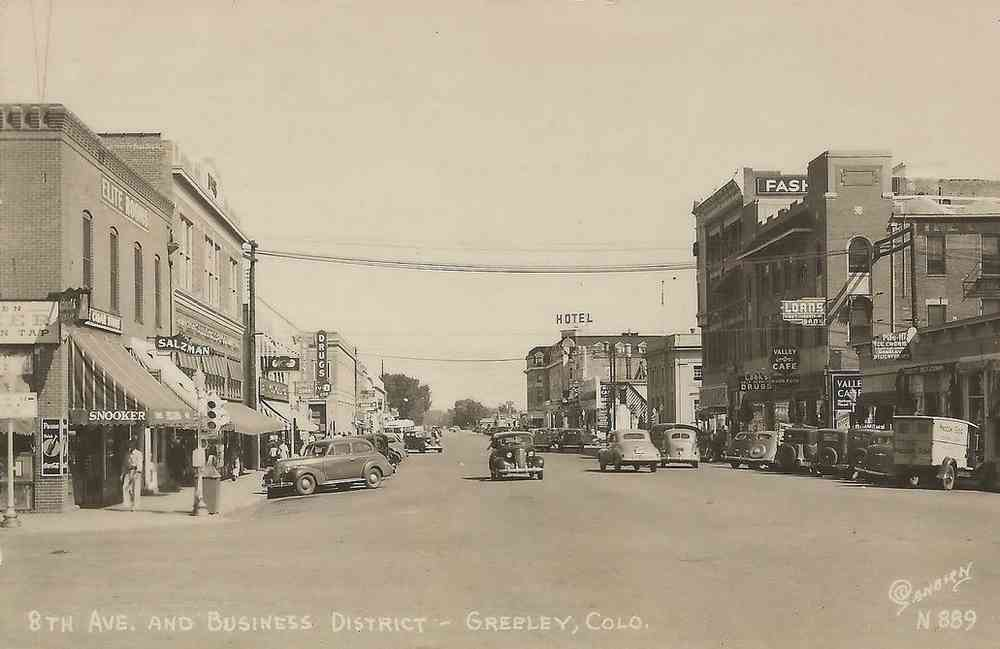 Greeley, Colorado, USA - 8th Ave. and Business District