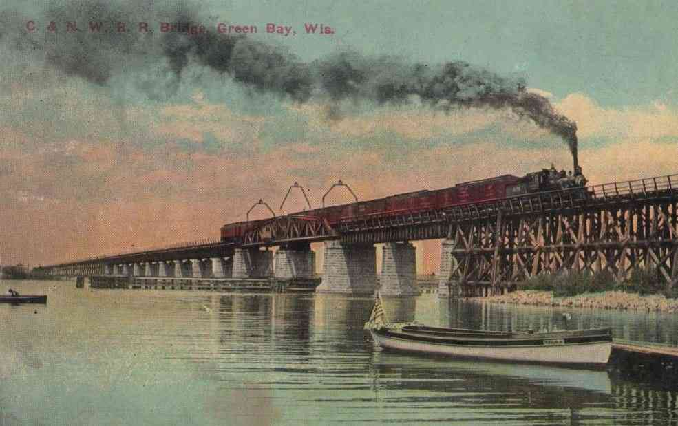 Green Bay, Wisconsin, USA - C. & N. W. R. R. Bridge, Green Bay, Wis.
