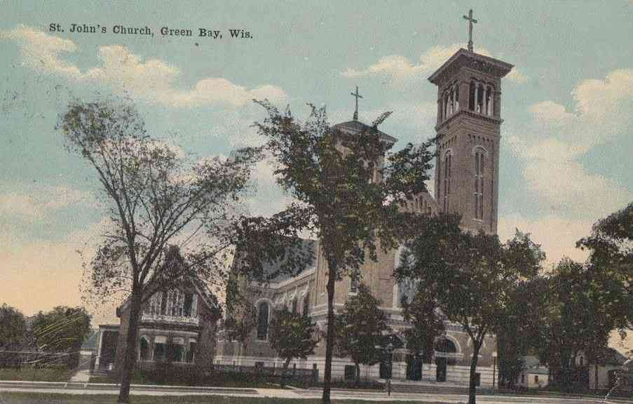 Green Bay, Wisconsin, USA - St. John's Church, Green Bay, Wis.