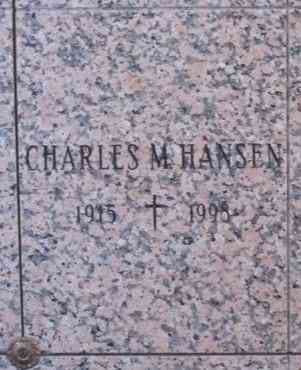 Charles M HANSEN - Mount St. Benedict Cemetery, Bloomfield, Hartford, Connecticut