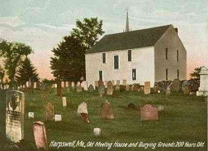 Harpswell, Maine, USA - Old Meeting House and Burying Grounds