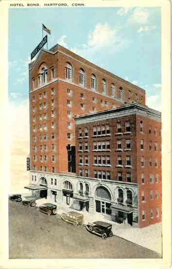Hartford, Connecticut, USA - Hotel Bond, Hartford, Conn.