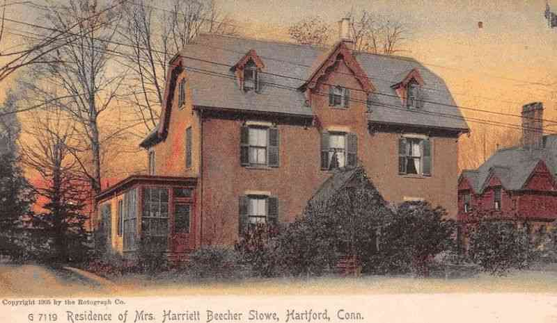 Hartford, Connecticut, USA - Residence of Mrs. Harriett Beecher Stowe