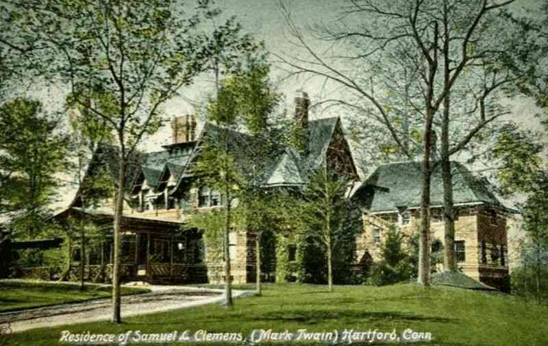 Hartford, Connecticut, USA - Residence of Samuel L Clemens (Mark Twain)