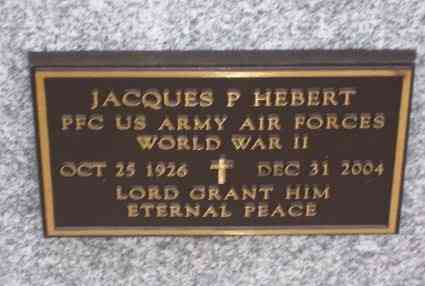 Jacques HEBERT - Grave