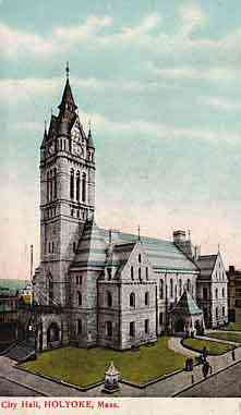 Holyoke, Massachusetts, USA - City Hall, Holyoke, Mass.