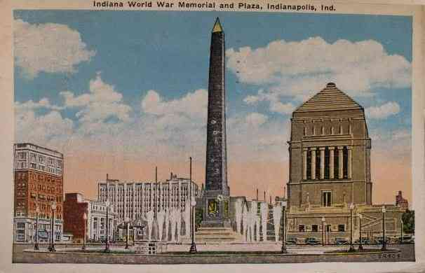 Indianapolis, Indiana, USA - Indiana World War Memorial and Plaza