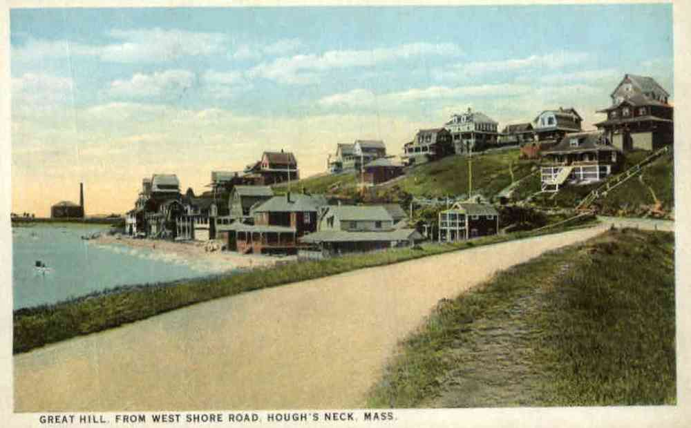 Ipswich, Massachusetts, USA - Great Hill from West Shore Road, Hough's Neck, Mass.