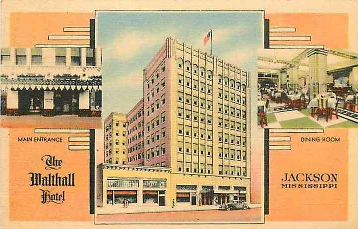 Jackson, Hinds, Mississippi, USA - The Walthall Hotel