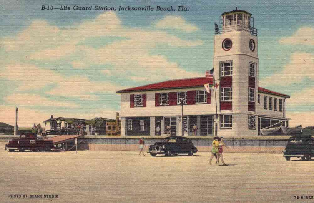 Jacksonville, Florida, USA - Life Guard Station, Jacksonville Beach, Fla.