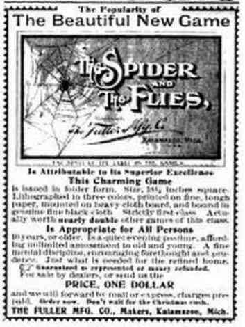 Kalamazoo, Michigan, USA - The Beautiful New Game of The Spider and The Flies