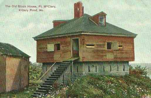 Kittery, York, Maine, USA - The Old Block House, Ft. McClary, Kittery Point, Me.