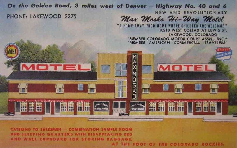 Lakewood, Colorado, USA - Max Mosko Hi-Way Motel