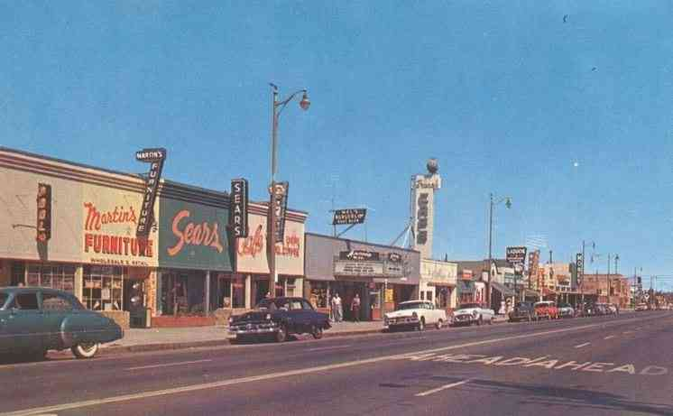 Lancaster, Los Angeles, California, USA - Downtown (1950s)