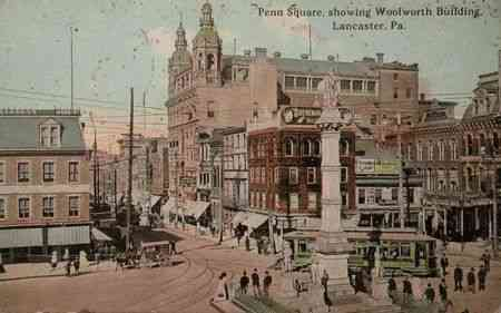 Lancaster, Pennsylvania, USA - Penn Square, showing Woolworth Building, Lancaster, Pa.