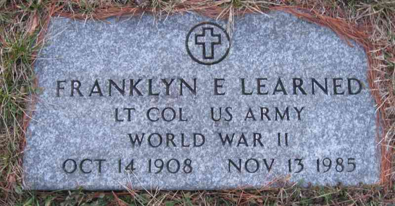 Franklyn Edward Learned - Grave
