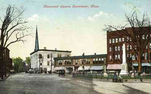 Leominster, Massachusetts, USA - Monument Square
