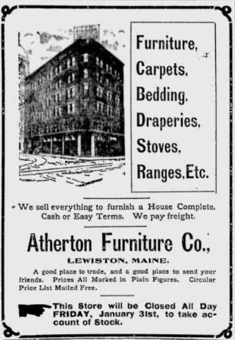 Lewiston, Maine, USA - 1902 advertisement