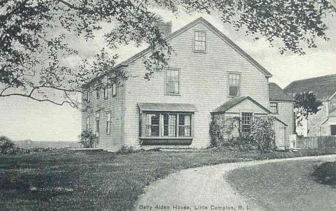 Little Compton, Rhode Island, USA (Adamsville) - Betty Alden House, Little Compton, R. I.