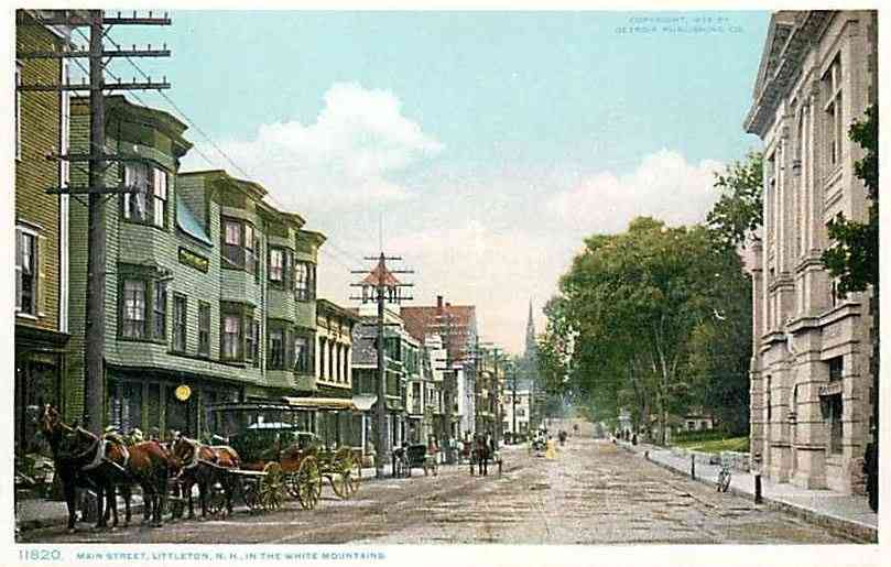 Littleton, New Hampshire, USA (Chiswick) - Main Street, Littleton, N.H., in the White Mountains