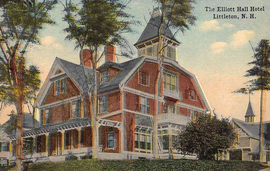 Littleton, New Hampshire, USA (Chiswick) - The Elliott Hall Hotel, Littleton, N.H.