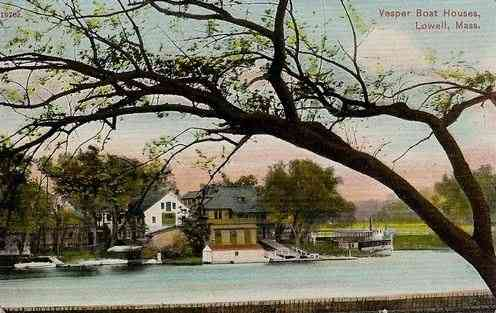 Lowell, Massachusetts, USA - Vesper Boat Houses (1910)