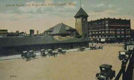 Lowell, Massachusetts, USA - Lowell Depot and Richardson Hotel
