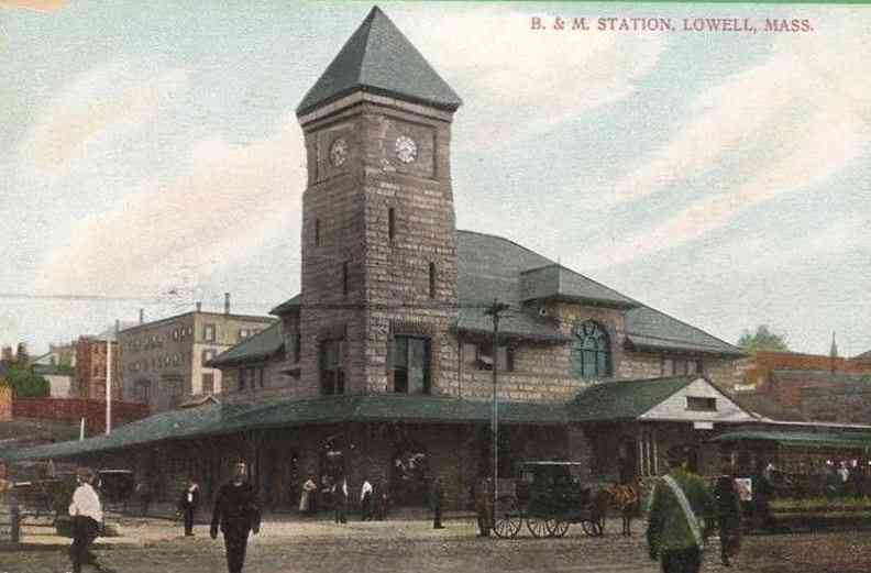 Lowell, Massachusetts, USA - B. & M. Station, Lowell, Mass.